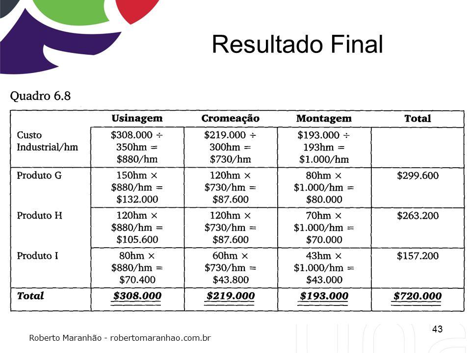Resultado Final 43 Roberto Maranhão - robertomaranhao.com.br