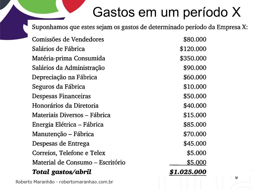 Gastos em um período X 9 Roberto Maranhão - robertomaranhao.com.br