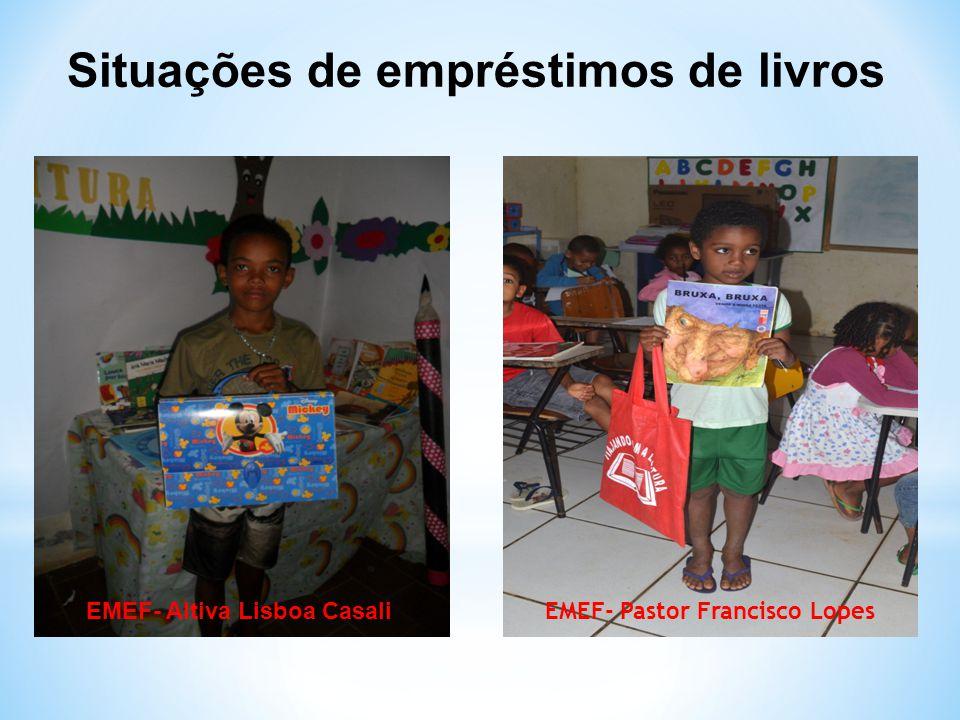 Situações de empréstimos de livros EMEF- Altiva Lisboa Casali EMEF- Pastor Francisco Lopes