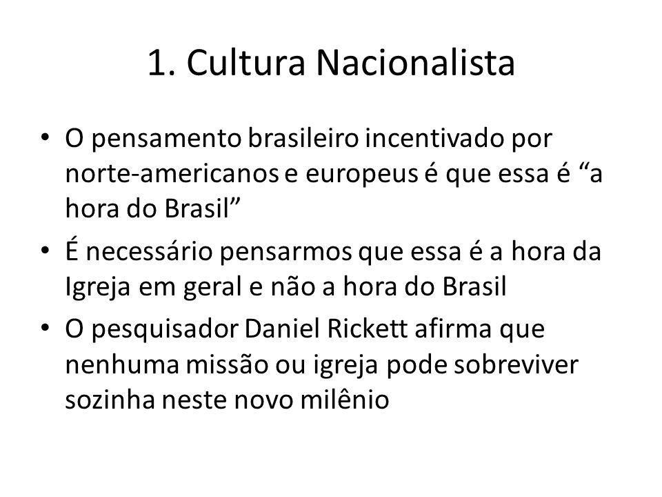 """O pensamento brasileiro incentivado por norte-americanos e europeus é que essa é """"a hora do Brasil"""" É necessário pensarmos que essa é a hora da Igreja"""