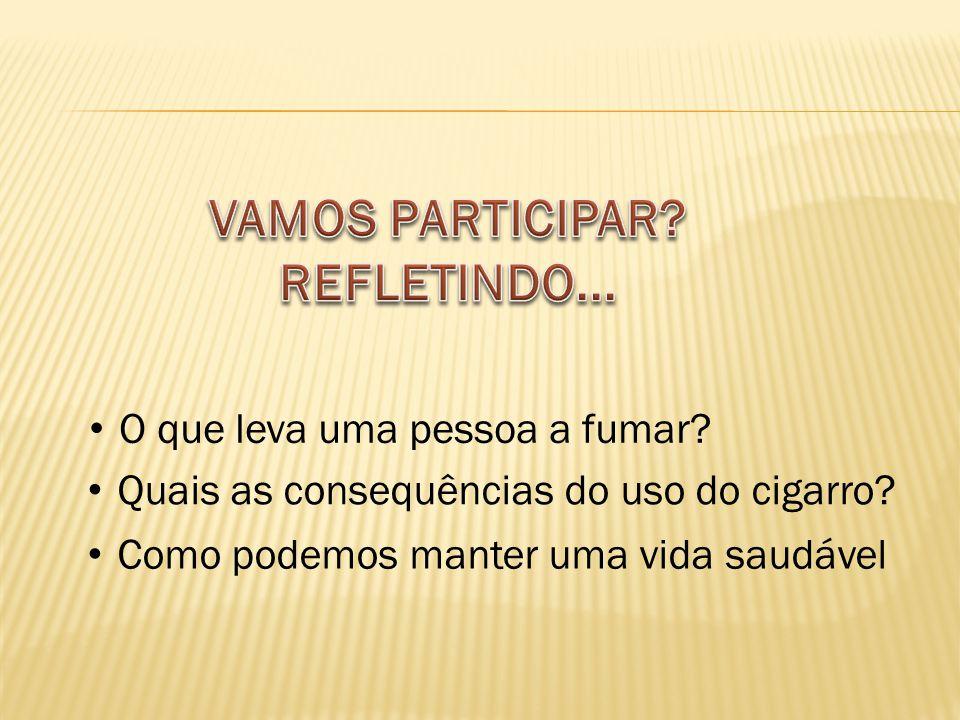 O que leva uma pessoa a fumar.Quais as consequências do uso do cigarro.