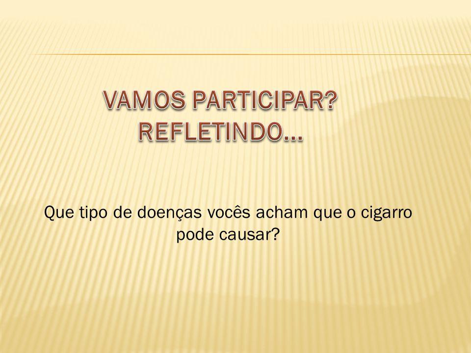 Que tipo de doenças vocês acham que o cigarro pode causar?