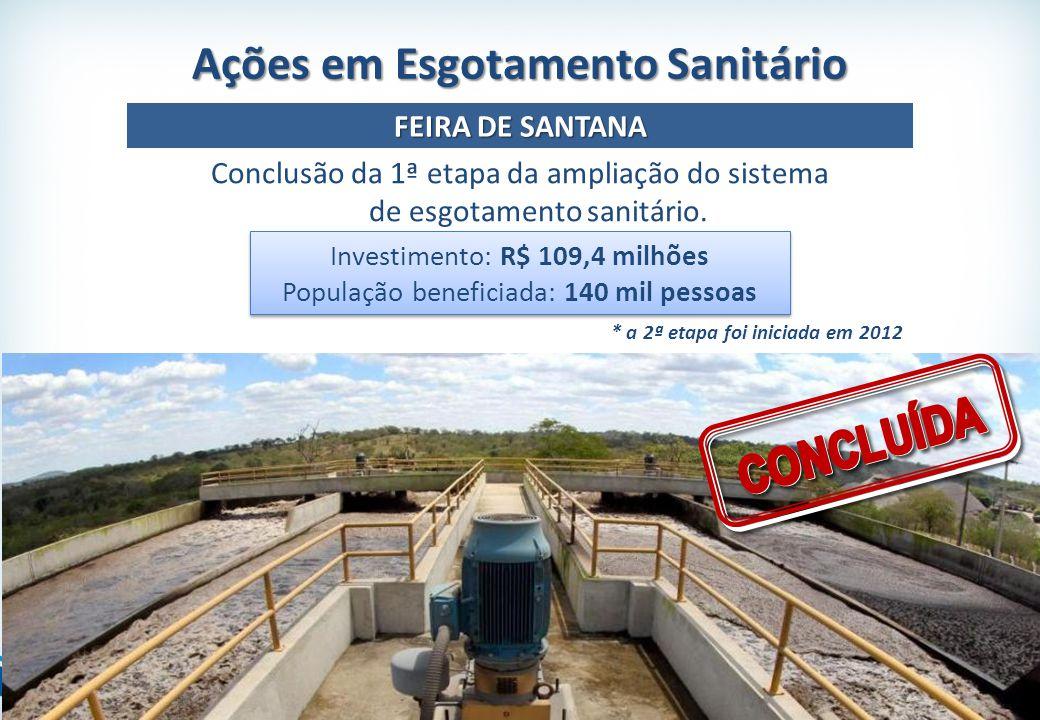 Investimento: R$ 109,4 milhões População beneficiada: 140 mil pessoas Investimento: R$ 109,4 milhões População beneficiada: 140 mil pessoas Conclusão