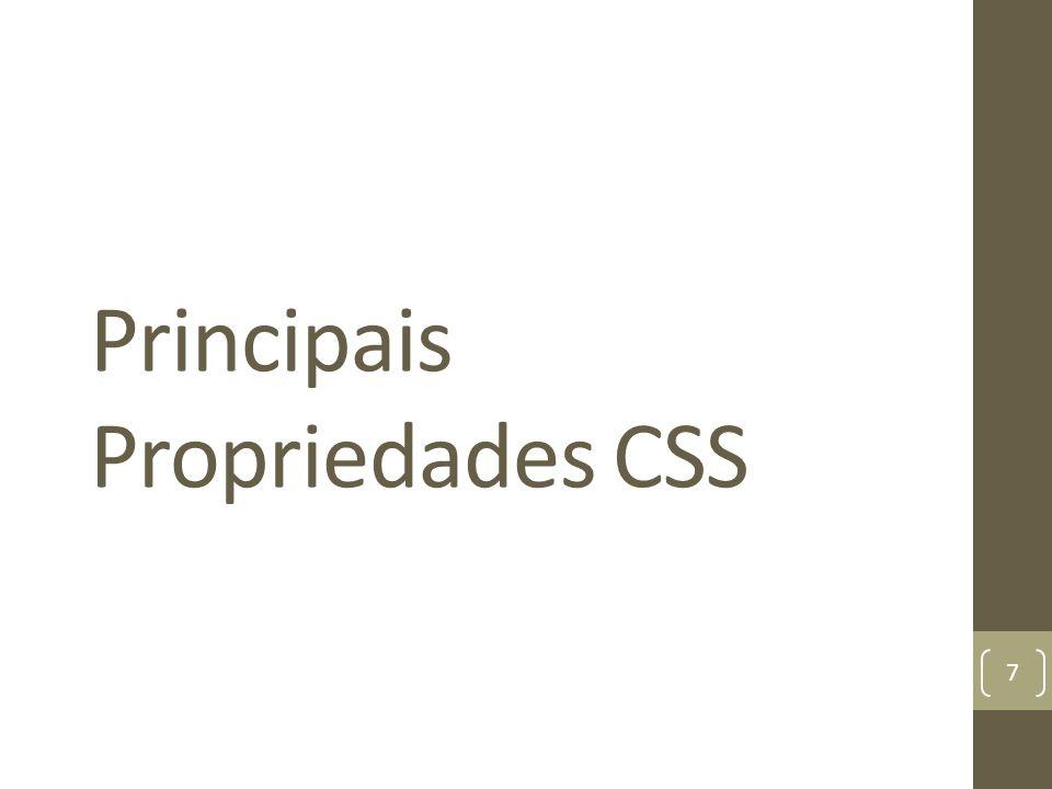 Principais Propriedades CSS 7