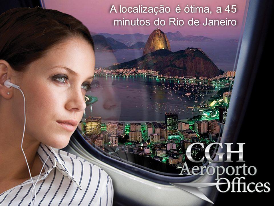 A localização é ótima, a 45 minutos do Rio de Janeiro