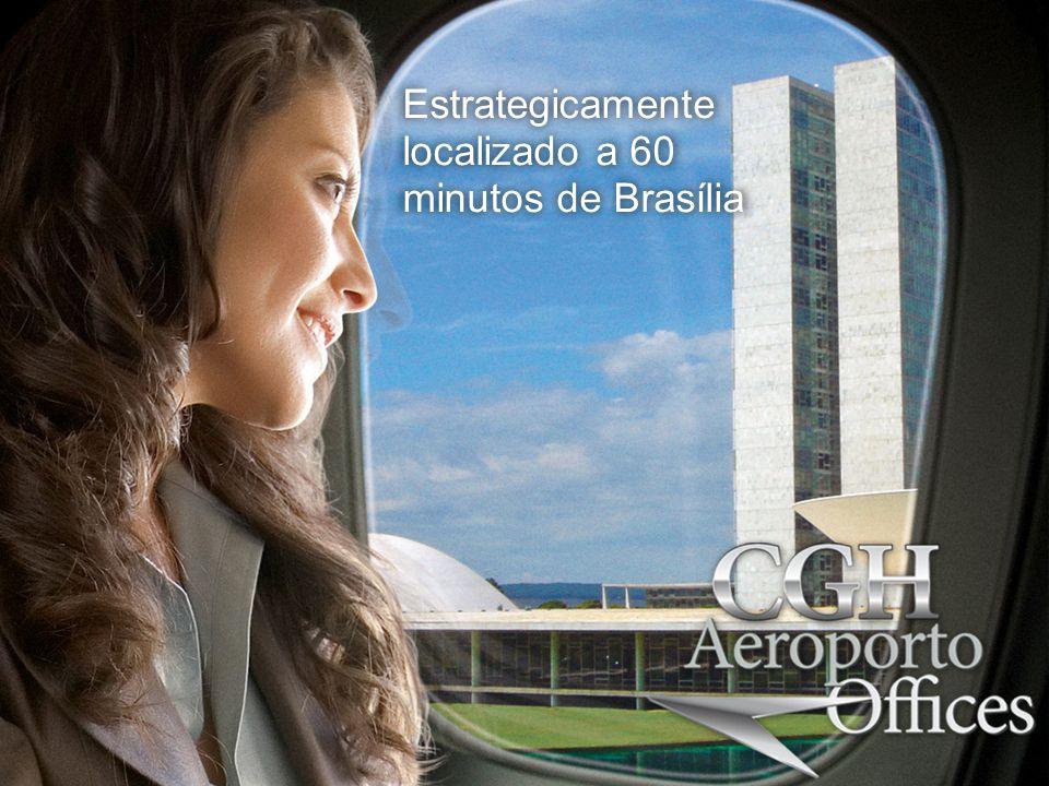 Estrategicamente localizado a 60 minutos de Brasília