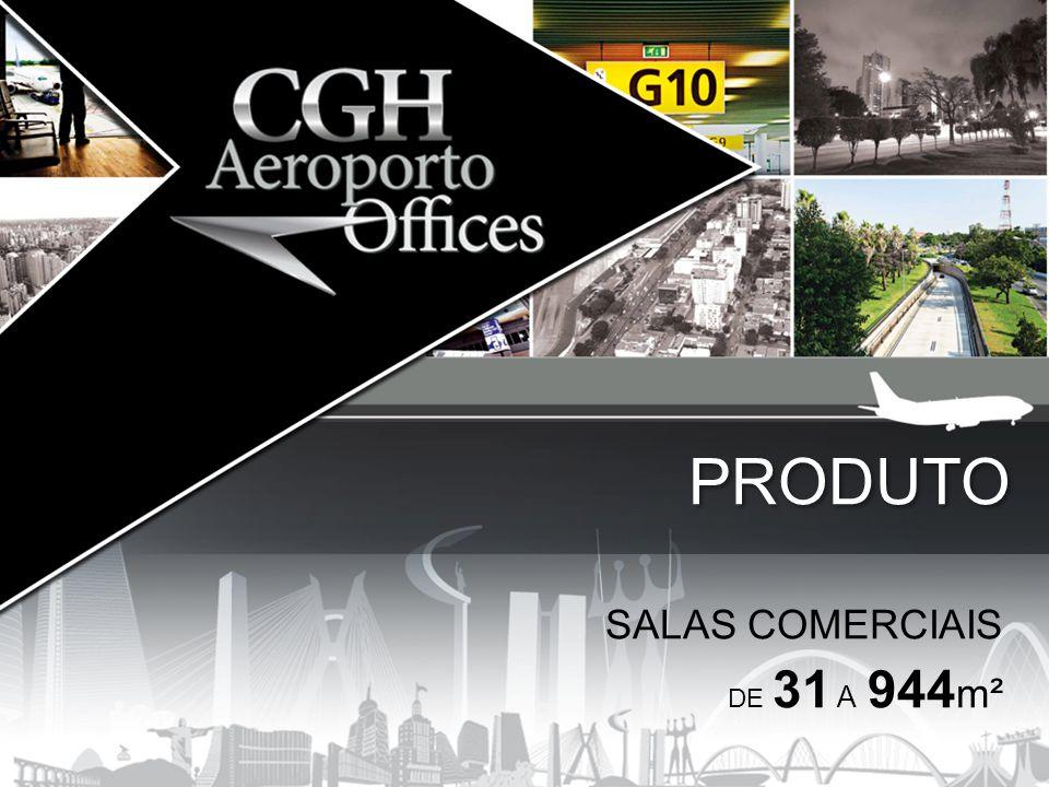 SALAS COMERCIAIS DE 31 A 944 m² PRODUTO