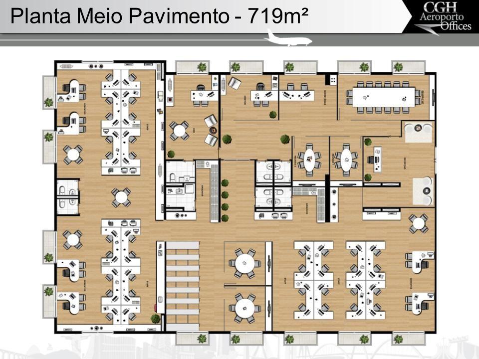 Planta Meio Pavimento - 719m²