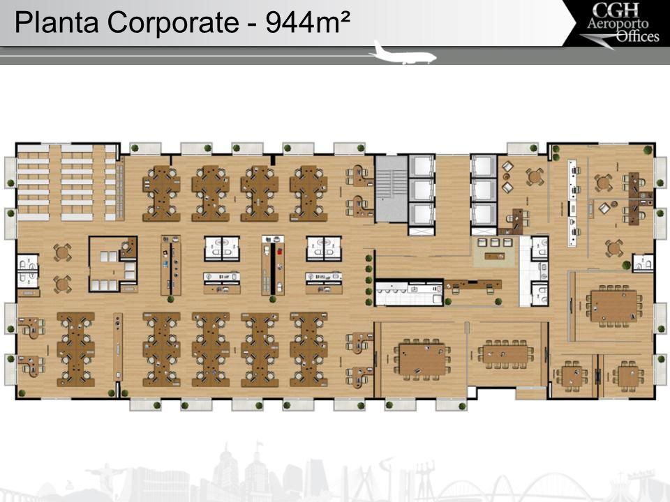 Planta Corporate - 944m²