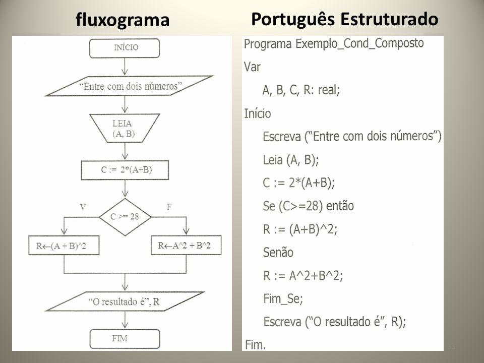 33 fluxograma Português Estruturado