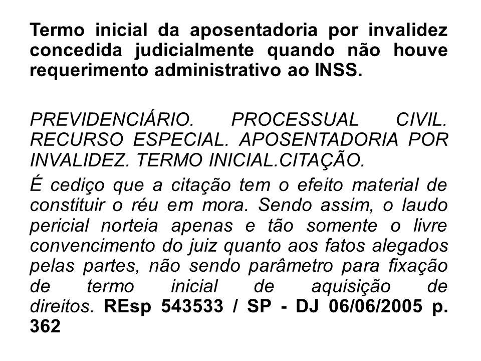Termo inicial da aposentadoria por invalidez concedida judicialmente quando não houve requerimento administrativo ao INSS. PREVIDENCIÁRIO. PROCESSUAL