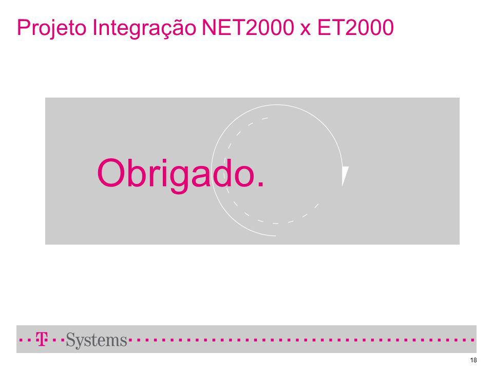 18 Projeto Integração NET2000 x ET2000 Obrigado.