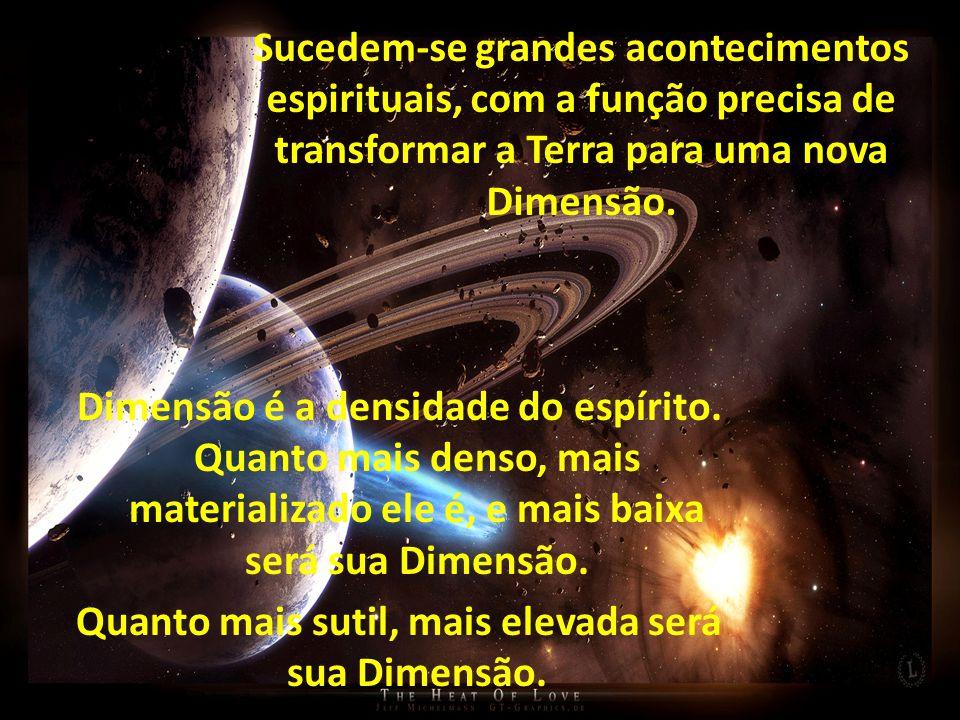 Sucedem-se grandes acontecimentos espirituais, com a função precisa de transformar a Terra para uma nova Dimensão.