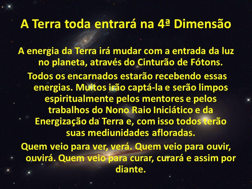 A Terra toda entrará na 4ª Dimensão A energia da Terra irá mudar com a entrada da luz no planeta, através do Cinturão de Fótons.