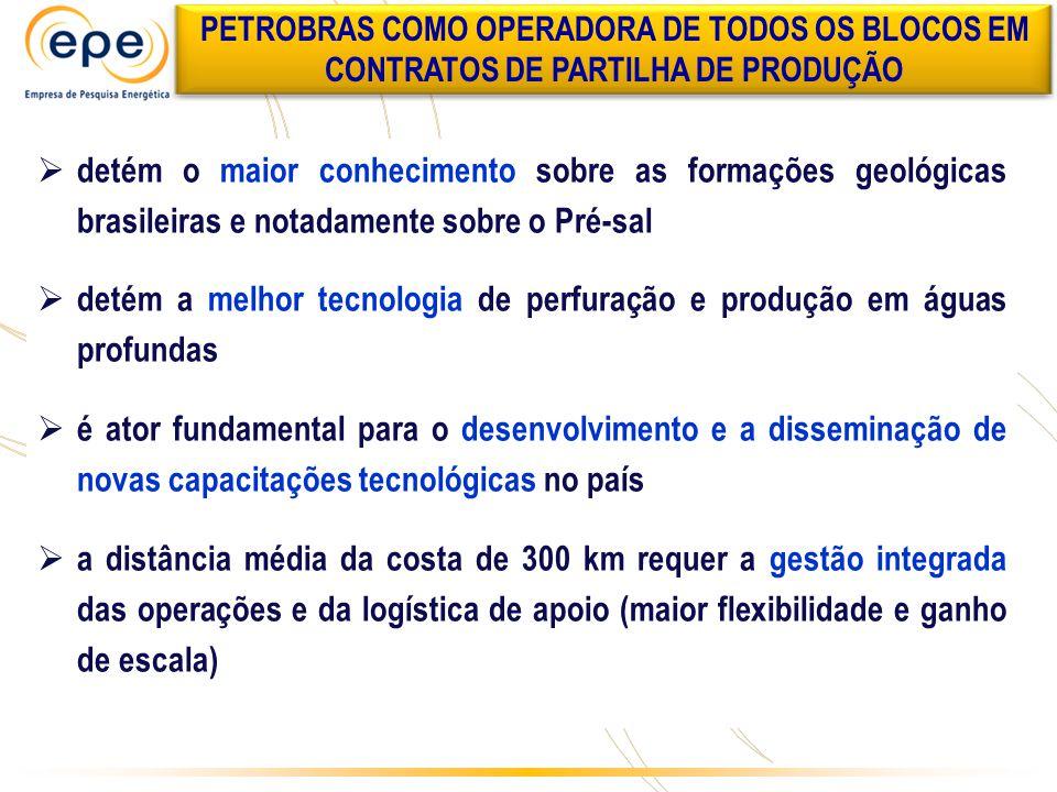  detém o maior conhecimento sobre as formações geológicas brasileiras e notadamente sobre o Pré-sal  detém a melhor tecnologia de perfuração e produ