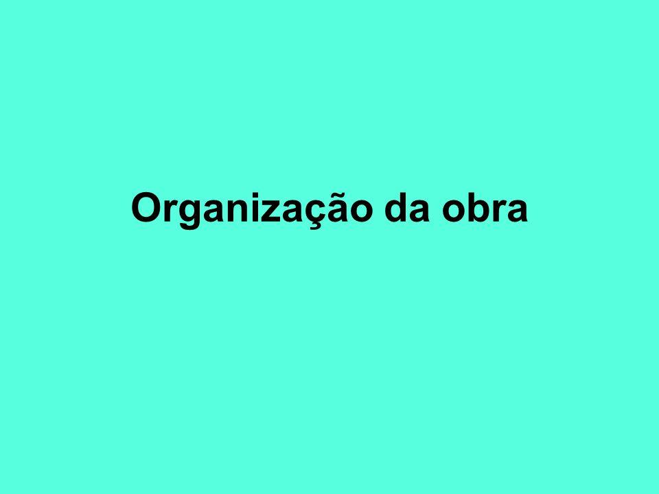 Organização da obra