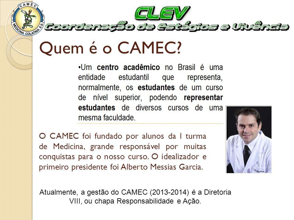 Quem é o CAMEC? O CAMEC foi fundado por alunos da I turma de Medicina, grande responsável por muitas conquistas para o nosso curso. O idealizador e pr