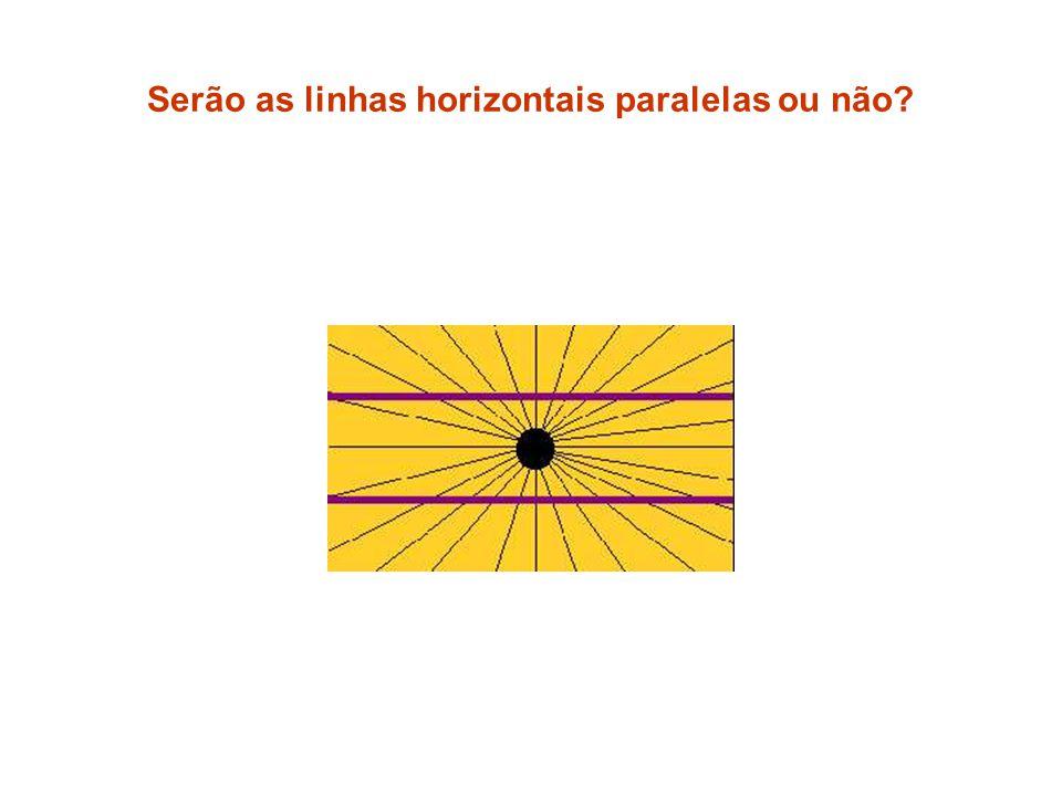 Serão as linhas horizontais paralelas ou não?