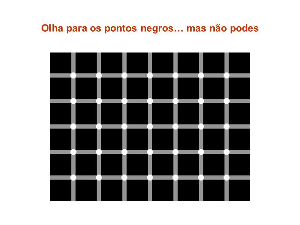 Olha para os pontos negros… mas não podes