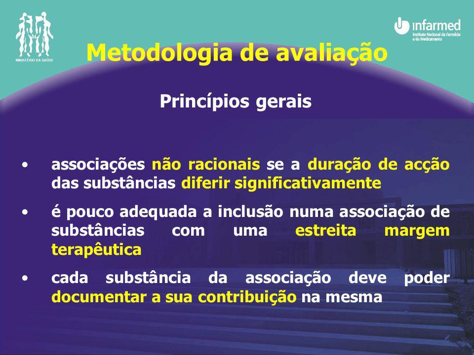 Princípios gerais associações não racionais se a duração de acção das substâncias diferir significativamente é pouco adequada a inclusão numa associaç