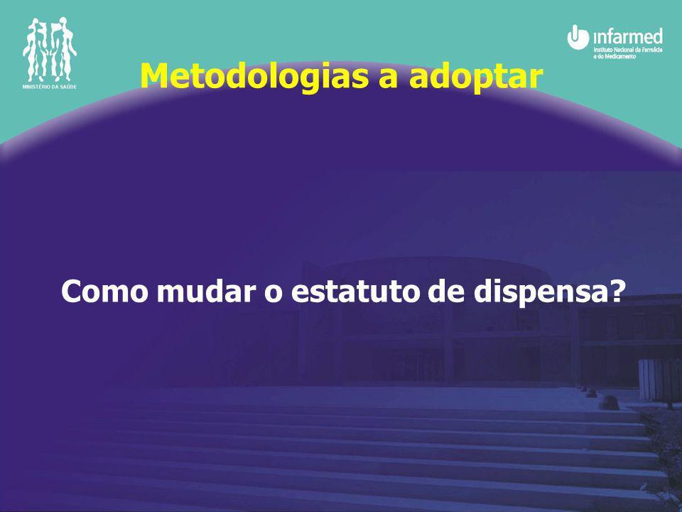 Como mudar o estatuto de dispensa Metodologias a adoptar