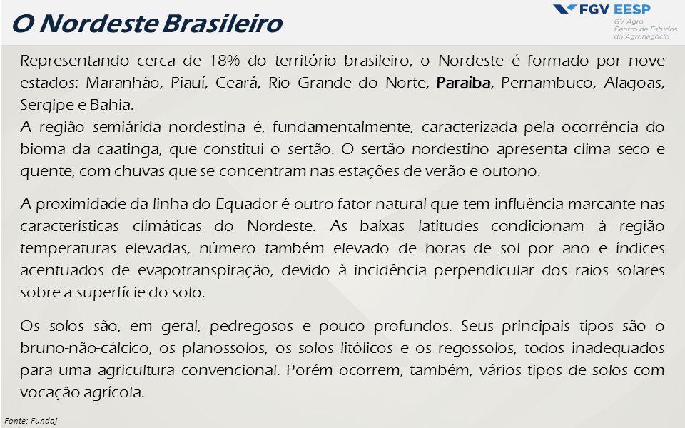 Paraíba Representando cerca de 18% do território brasileiro, o Nordeste é formado por nove estados: Maranhão, Piauí, Ceará, Rio Grande do Norte, Paraí