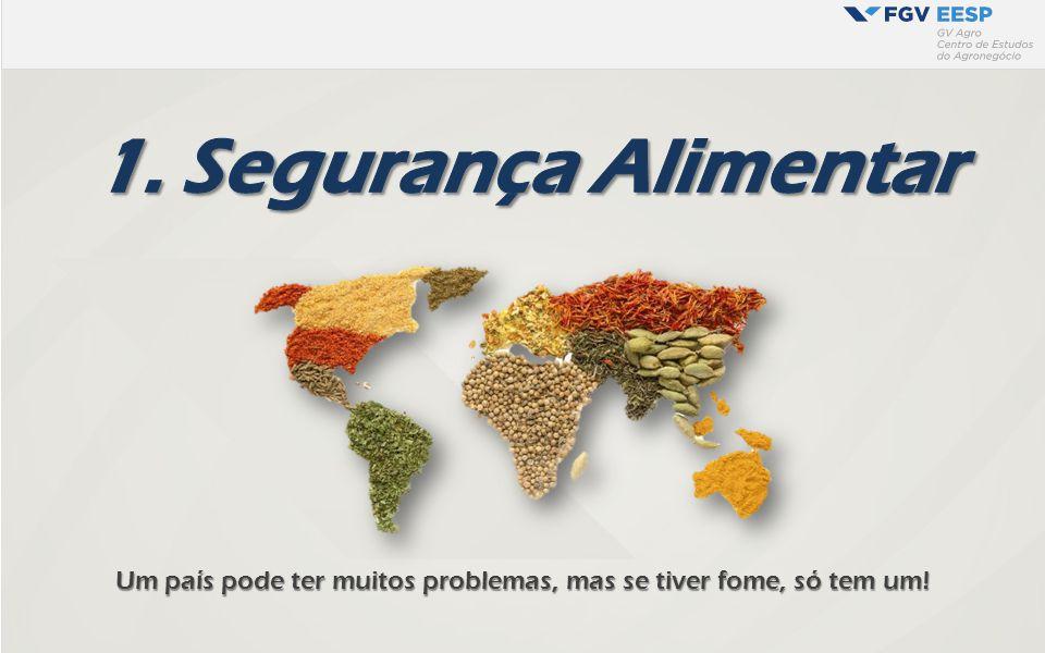 Um país pode ter muitos problemas, mas se tiver fome, só tem um!