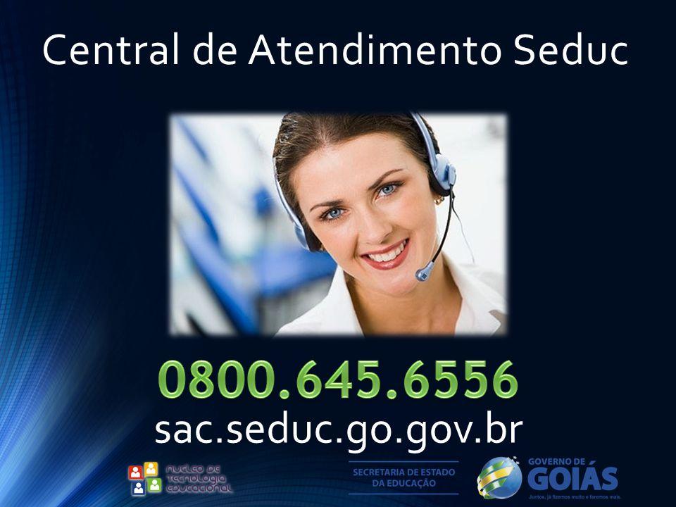 Central de Atendimento Seduc sac.seduc.go.gov.br