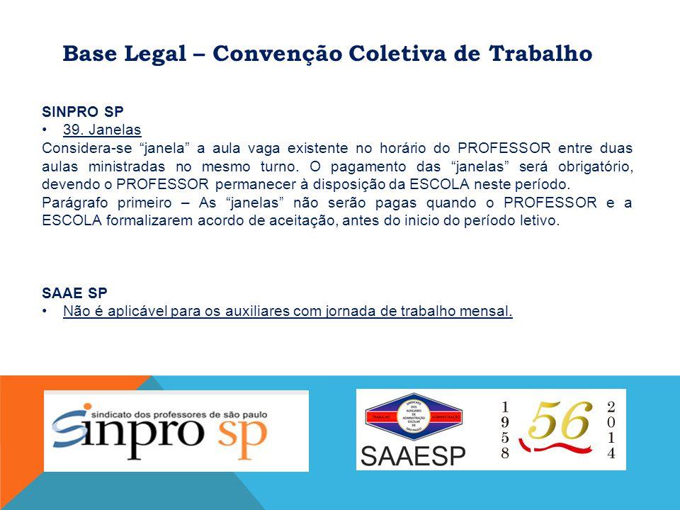 Base Legal – Convenção Coletiva de Trabalho SINPRO SP 39.