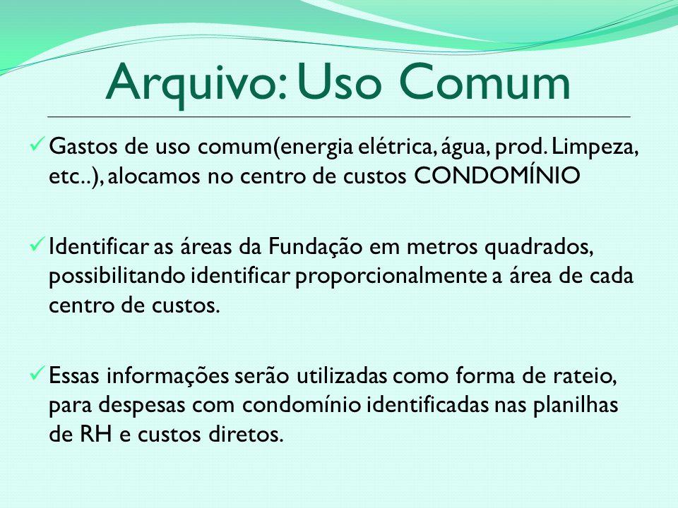 Arquivo: Uso Comum Gastos de uso comum(energia elétrica, água, prod.
