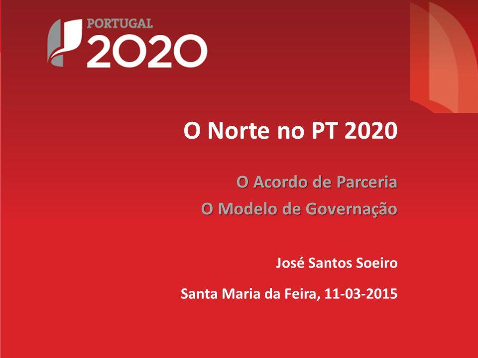 José Santos Soeiro Santa Maria da Feira, 11-03-2015 O Acordo de Parceria O Modelo de Governação O Norte no PT 2020
