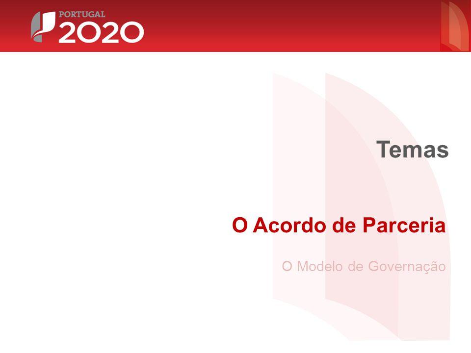O Acordo de Parceria O Modelo de Governação Temas