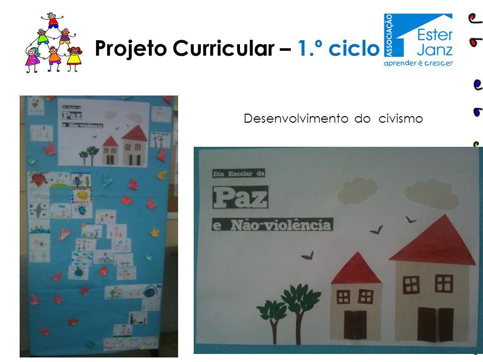 13 Projeto Curricular – 1.º ciclo Desenvolvimento do civismo