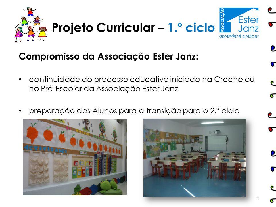 Compromisso da Associação Ester Janz: continuidade do processo educativo iniciado na Creche ou no Pré-Escolar da Associação Ester Janz preparação dos