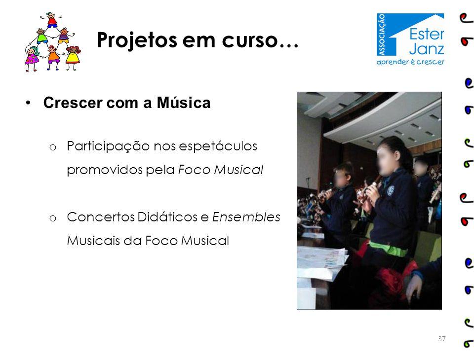 Crescer com a Música o Participação nos espetáculos promovidos pela Foco Musical o Concertos Didáticos e Ensembles Musicais da Foco Musical Projetos e