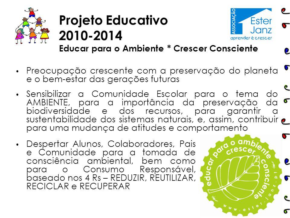 Projeto Educativo 2015-2019 Todas as áreas curriculares estão focadas e contribuem, de uma forma articulada e em convergência, para a concretização do nosso Projeto Educativo.
