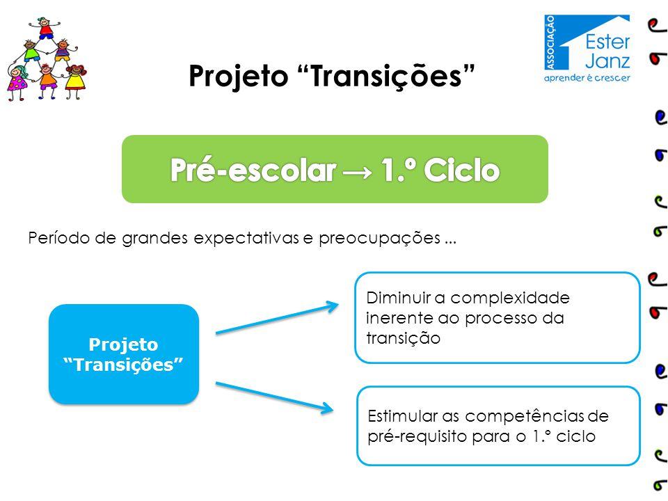 """Projeto """"Transições"""" Período de grandes expectativas e preocupações... Diminuir a complexidade inerente ao processo da transição Projeto """"Transições"""""""