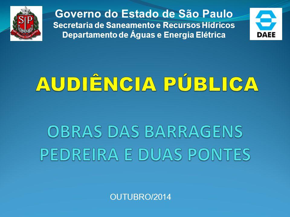 Governo do Estado de São Paulo Secretaria de Saneamento e Recursos Hídricos Departamento de Águas e Energia Elétrica OUTUBRO/2014
