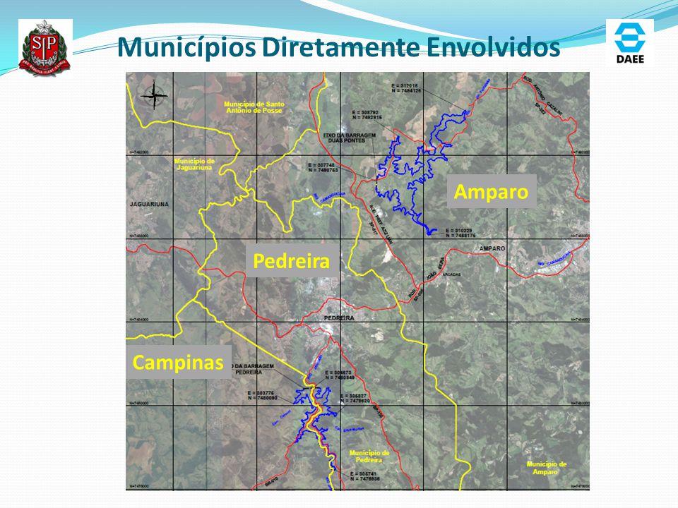 Pedreira Municípios Diretamente Envolvidos Campinas Amparo