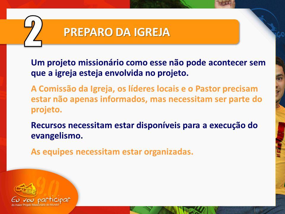 Um projeto missionário como esse não pode acontecer sem que a igreja esteja envolvida no projeto.