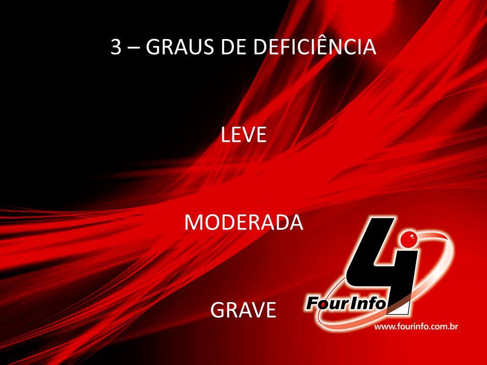 3 – GRAUS DE DEFICIÊNCIA LEVE MODERADA GRAVE