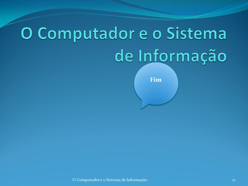 Classificação dos computadores Computadores de pequenas dimensões. Minicomputadores 11O Computador e o Sistema de Informação