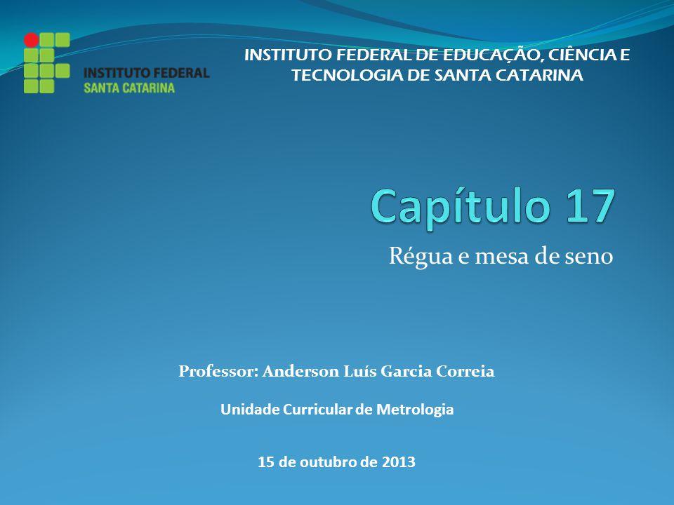Régua e mesa de seno INSTITUTO FEDERAL DE EDUCAÇÃO, CIÊNCIA E TECNOLOGIA DE SANTA CATARINA Professor: Anderson Luís Garcia Correia Unidade Curricular