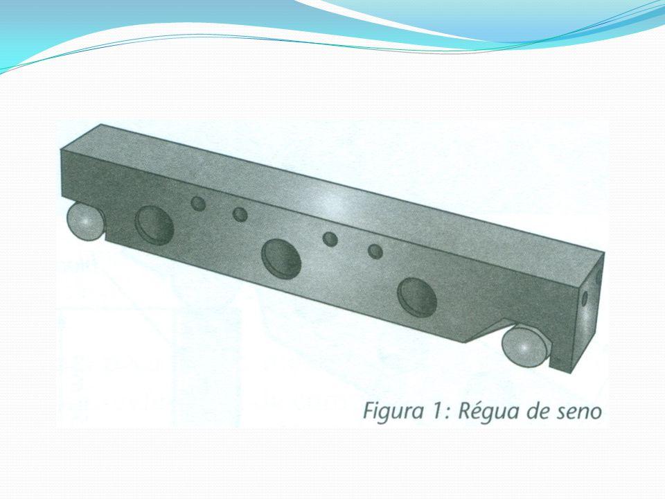 Os furos existentes no corpo da régua reduzem seu peso e possibilitam a fixação das peças que serão medidas.