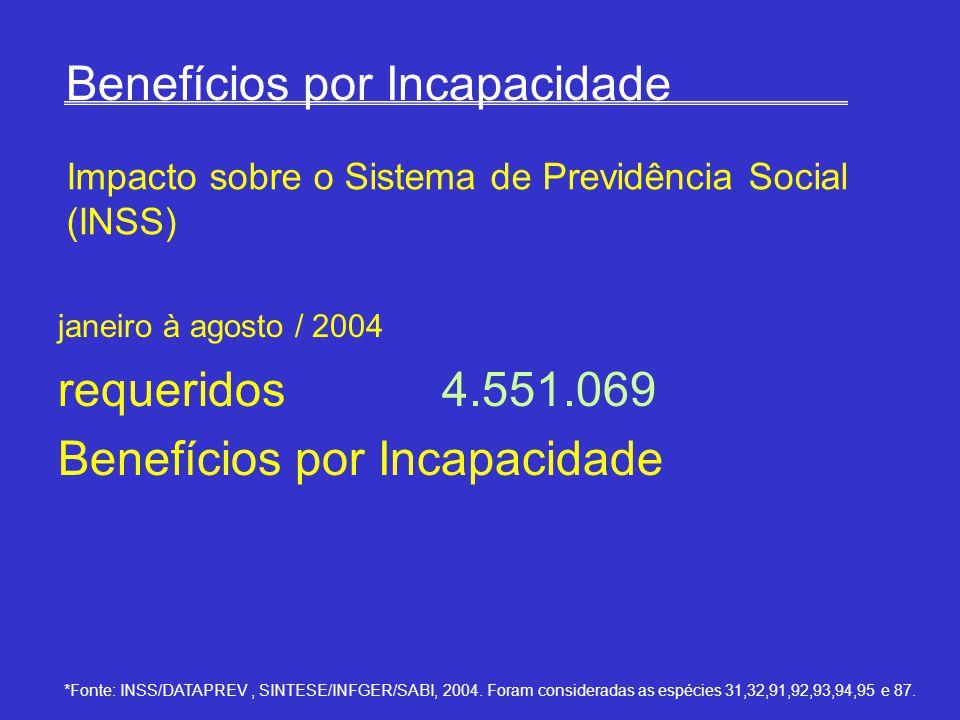 *Fonte: INSS/DATAPREV, SINTESE/INFGER/SABI, 2004.