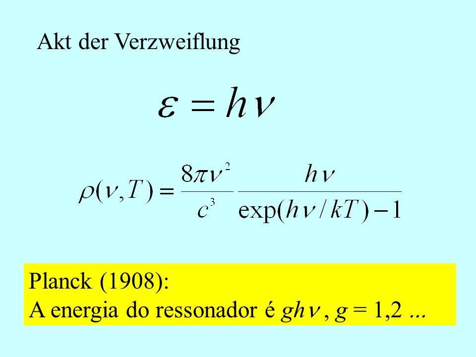 Resposta Passos seguintes: 1. Calcula-se a entropia: S = k ln W 2. Usa-se dS/dE = 1/T