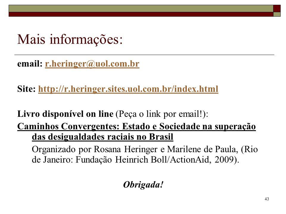 43 Mais informações: email: r.heringer@uol.com.brr.heringer@uol.com.br Site: http://r.heringer.sites.uol.com.br/index.htmlhttp://r.heringer.sites.uol.
