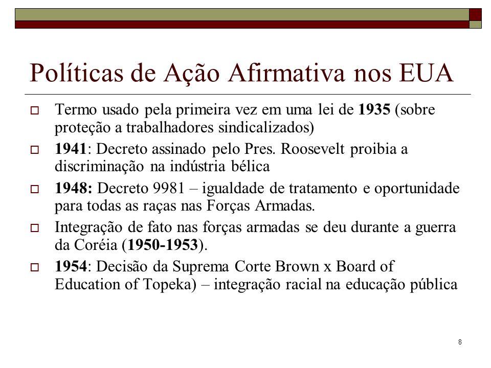 19 Desigualdades raciais na educação: alguns indicadores Proporção de pessoas (25 anos ou mais) com 15 anos de estudo ou mais (Brasil, 2008):  Total: 9,5 anos  Branca: 14,1 anos  Preta: 4,0 anos  Parda: 4,6 anos