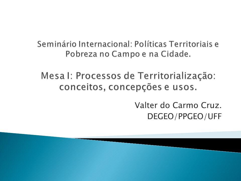 Valter do Carmo Cruz. DEGEO/PPGEO/UFF