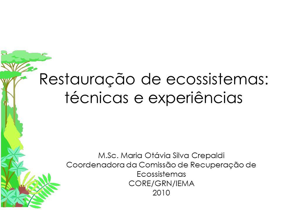 Restauração de ecossistemas: técnicas e experiências M.Sc.